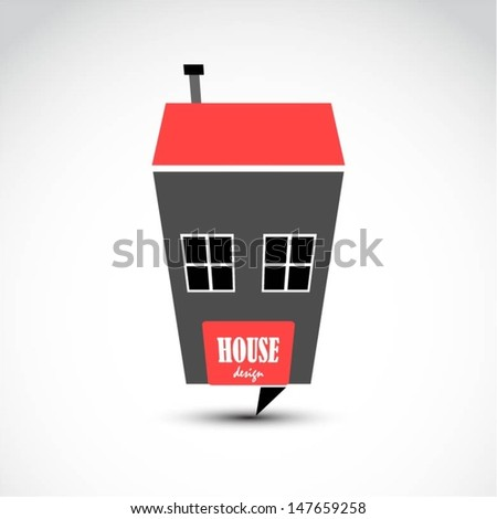 Vector house design - stock vector