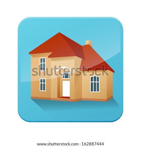 vector house icon - stock vector