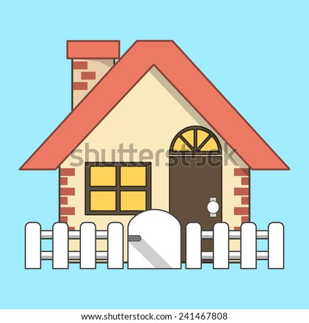 Vector House  Icon Flat Line Icon