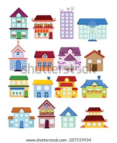 Vector house icons