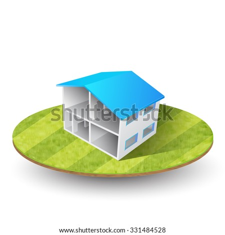 vector house illustration - stock vector