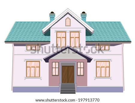 vector house isolated on white