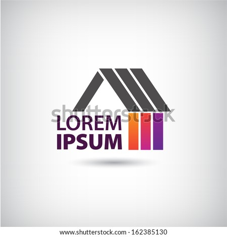 vector house logo for company isolated, identity - stock vector