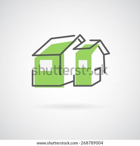 Vector house logo. Trendy icon for business. Company logo. - stock vector