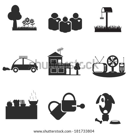 Vector houses icons