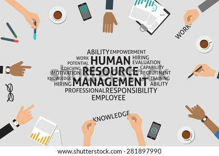 vector human resource management concept,template - stock vector