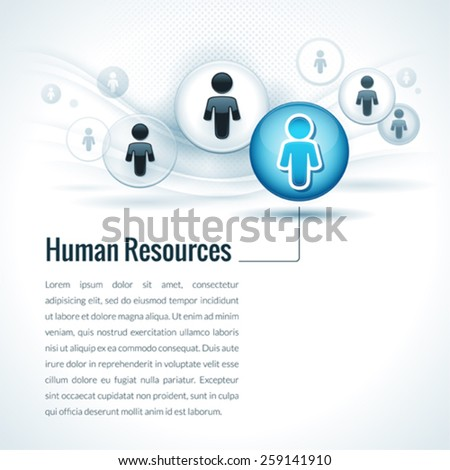Vector Human Resources Management Concept - stock vector