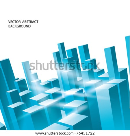VECTOR ice Urban Background - stock vector