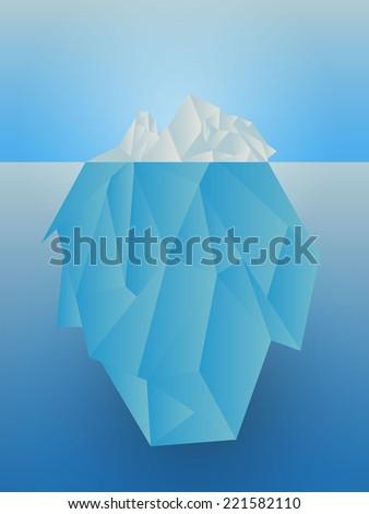 Vector iceberg in the sea - stock vector