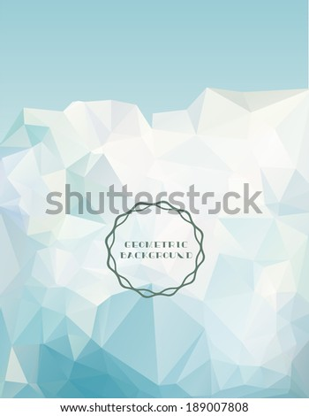 Vector Iceberg-Light blue geometric background, polygonal design - stock vector