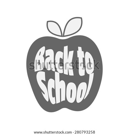 Vector icon. Apple, Back to School. - stock vector