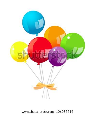vector icon balloon - stock vector