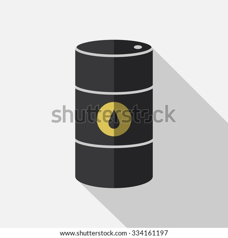 Vector icon barrels of oil. Flat illustration