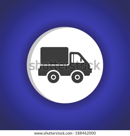 vector icon-blue - stock vector