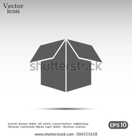 Vector icon box - stock vector
