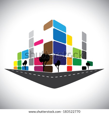 vector icon - building of home apartment or super market or office space. This graphic can also represent urban commercial structures, hotels, super centers, banks, skylines, skyscrapers, etc - stock vector