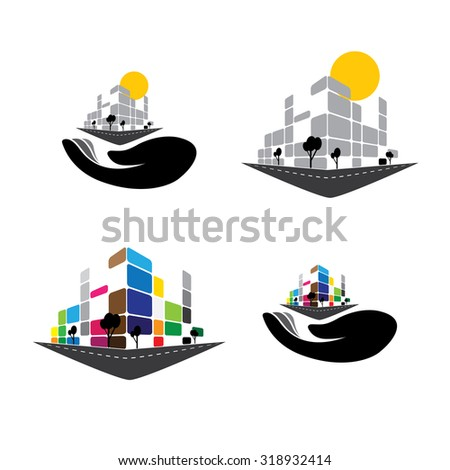 vector icon - building of home apartment,  super market or office space. This graphic can also represent urban commercial structures, hotels, super centers, banks, skylines, skyscrapers, etc - stock vector