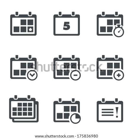 Vector icon calendar with notes - stock vector