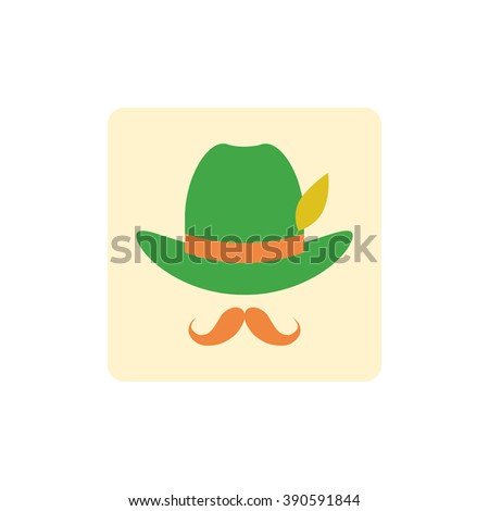 Vector Icon character. Vector Icon character design for the St. Patrick's Day. - stock vector