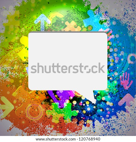 Vector icon. Colorful abstract background. Eps10 - stock vector