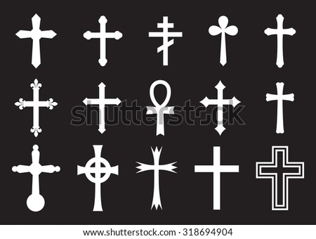 Vector icon cross set