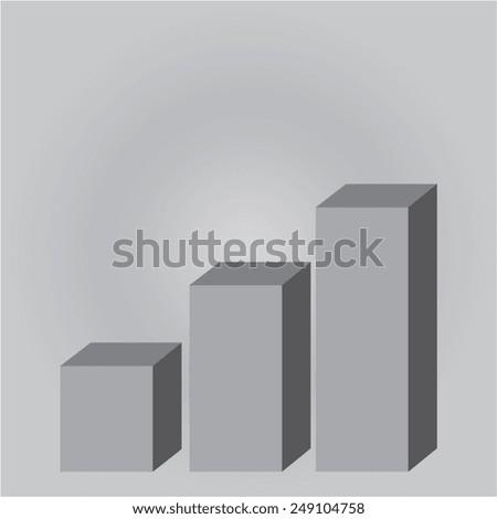 Vector icon 3D diagram - stock vector