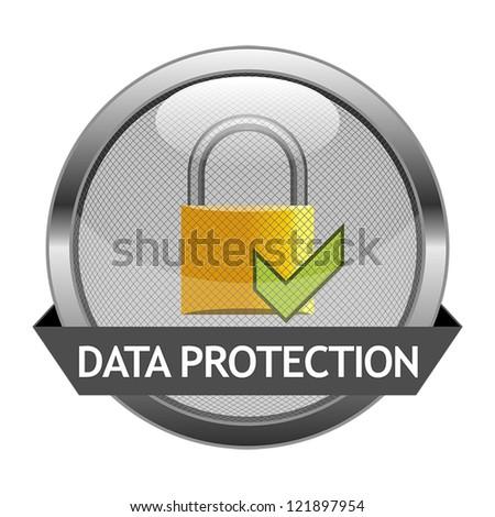Vector Icon Data Protection - stock vector
