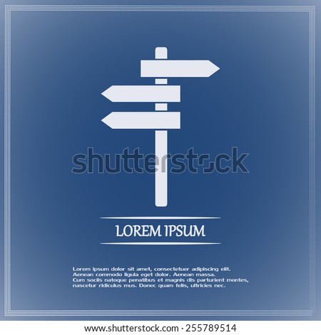Vector icon Direction road signs  - stock vector