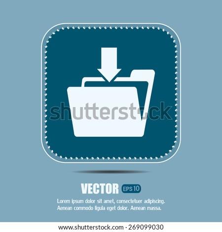 Vector icon download  - stock vector