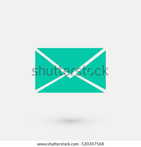Vector icon Envelope, flat design best vector icon