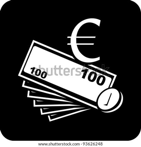 Vector icon - European money - stock vector