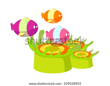 vector icon fish