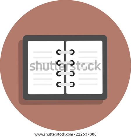 Vector Icon flat note pocketbook sketchpad - stock vector