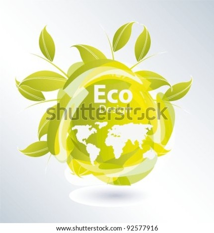 Vector icon for eco friendly on isolated white background