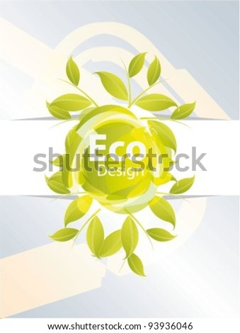 Vector icon for eco friendly on isolated white background - stock vector