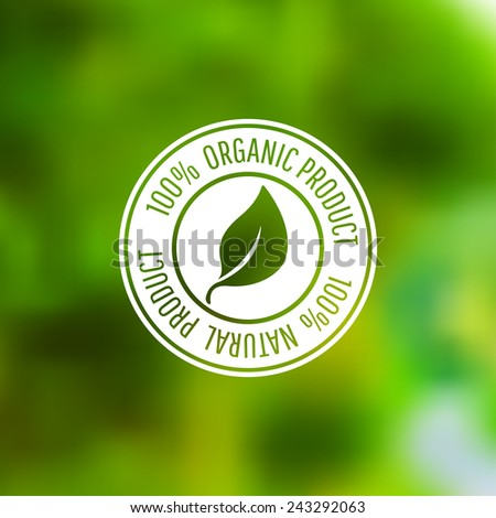 Vector icon for organic food and natural products. Eps10