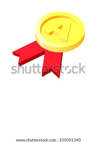 Vector icon gold medal