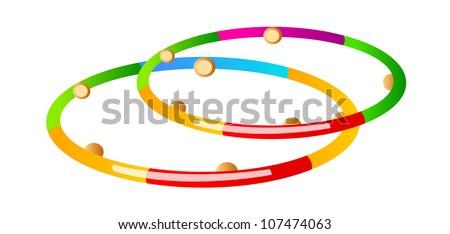 vector icon hula hoop stock vector 107474063 shutterstock rh shutterstock com Hula Hoop Chain animated hula hoop clipart