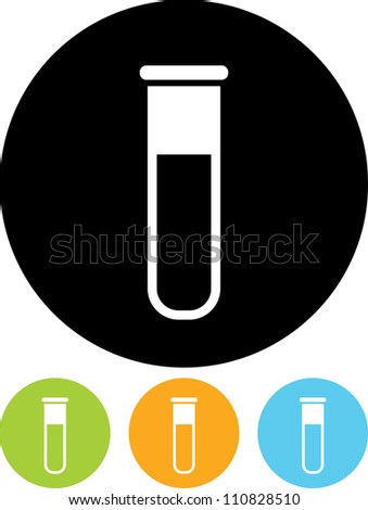 Vector icon isolated - Biochemistry and microbiology equipment. Test tube. - stock vector