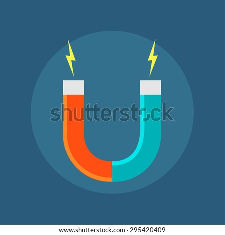 Vector Icon Isolated Horseshoe Magnet Symbol Stock Vector 295420409 ...