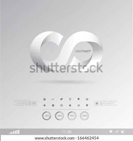 Vector icon, logo . Set shadows elements  of infographics. Modern elements of info graphics. Information Graphics. - stock vector