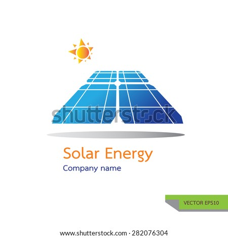 vector icon made from photovoltaic module  symbols. solar energy logo design concept. - stock vector