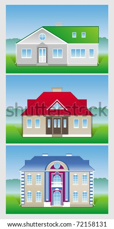 Vector icon - new house - stock vector