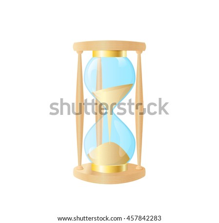 Vector icon of a detailed hourglass. Illustration.