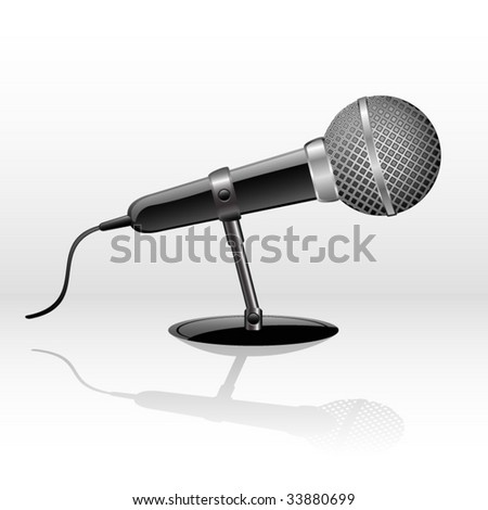 Vector icon of a microphone for web design