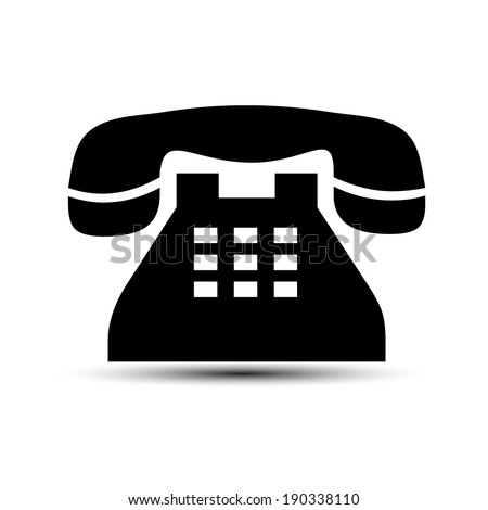 Vector icon of a phone - stock vector