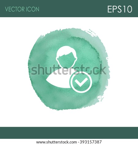 Vector icon of add friend contact.