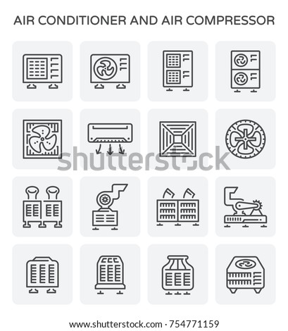 Vector Icon Air Conditioner Air Compressor Stock-Vektorgrafik ...