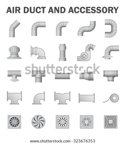 Vector Icon Air Duct Pipe Pipe Stock Vector 323676353