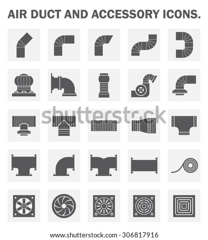 Vector Icon Air Duct Pipe Pipe Stock Vector 306817916
